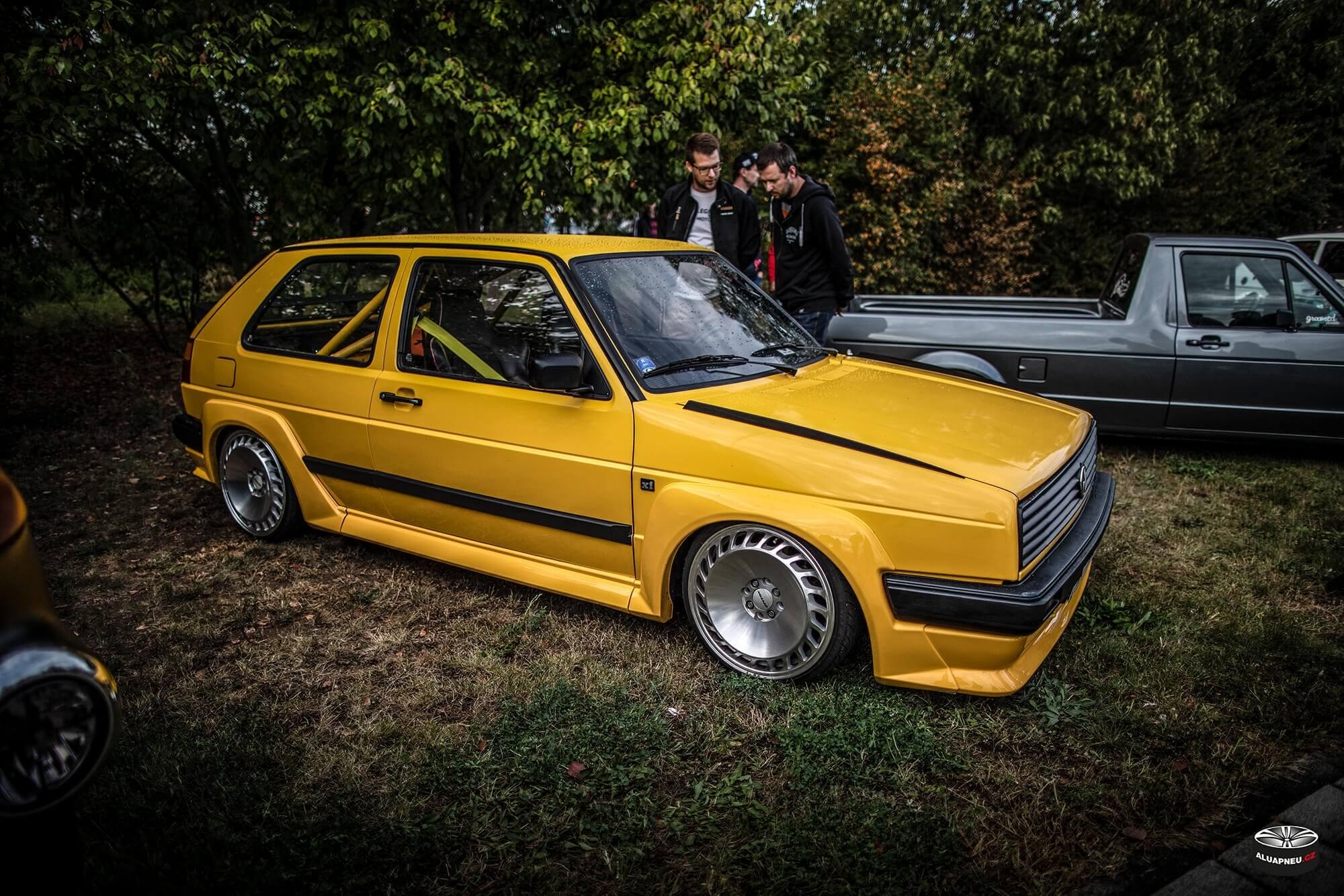 Tuning elektrony Messer - Volkswagen Golf 2 - XS Classic Carnight 5.0 - Drážďany tuning sraz 2019 - www.aluapneu.cz