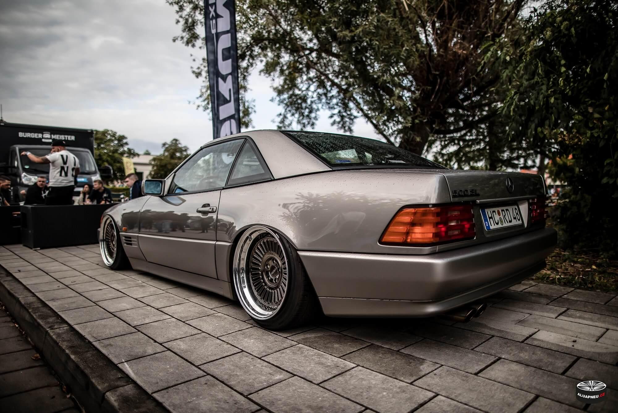 Límcové elektrony Mercedes Benz SL - XS Classic Carnight 5.0 - Drážďany tuning sraz 2019 - www.aluapneu.cz