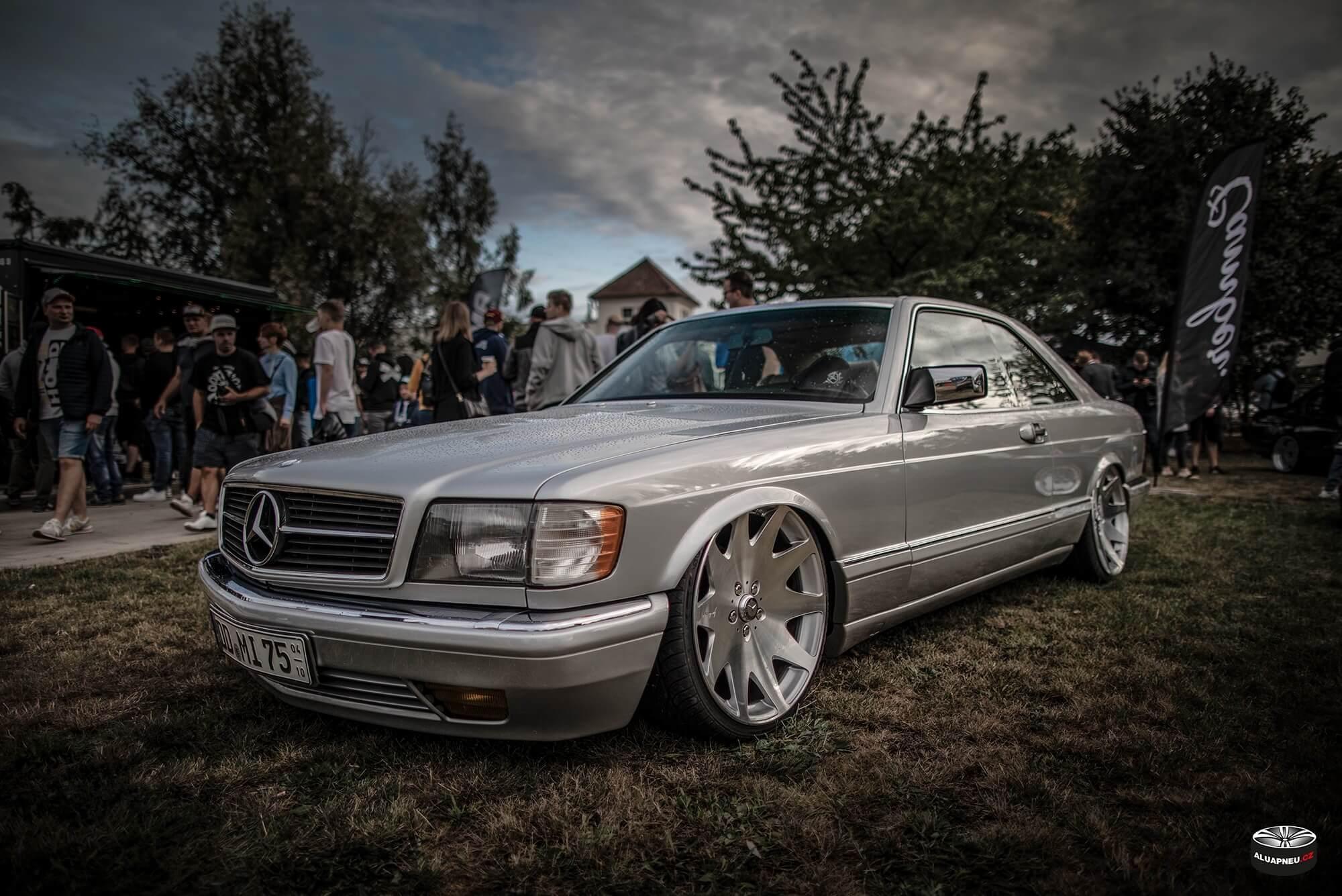 Leštěná alu kola Mercedes Benz Sec c126 - XS Classic Carnight 5.0 - Drážďany tuning sraz 2019 - www.aluapneu.cz