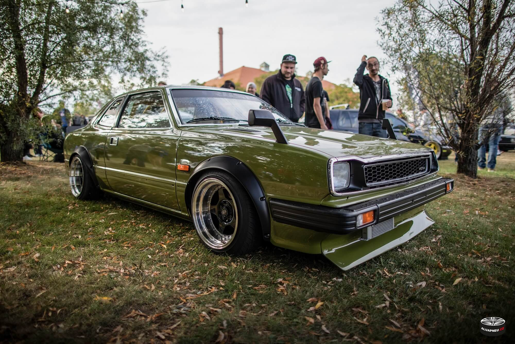 Černá alu kola s leštěným límcem - Honda Civic - XS Classic Carnight 5.0 - Drážďany tuning sraz 2019 - www.aluapneu.cz