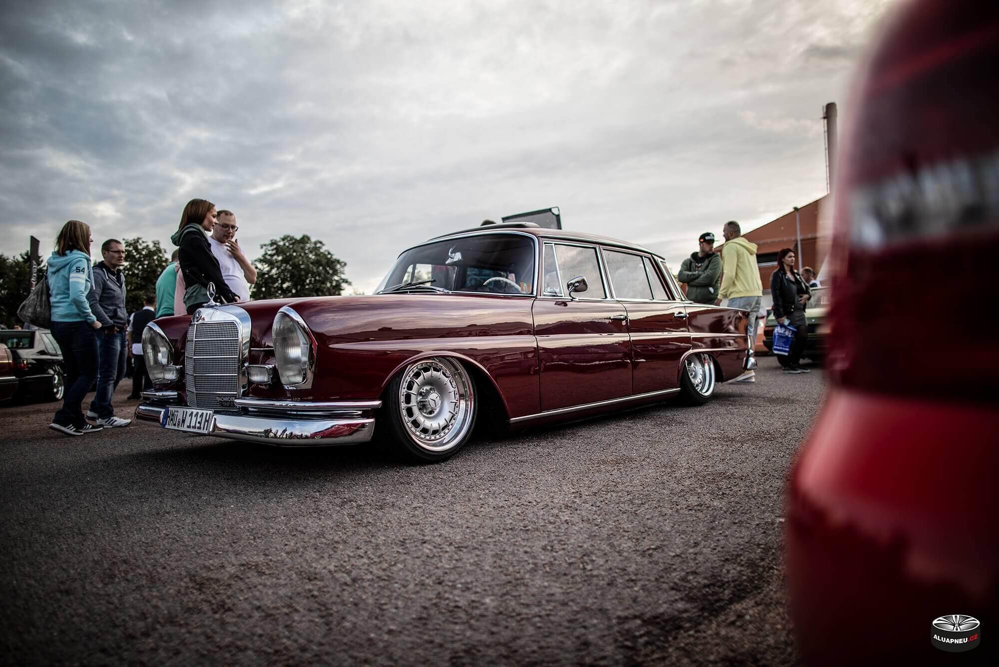 Alu kola Mercedes Benz 220 Sb - XS Classic Carnight 5.0 - Drážďany tuning sraz 2019 - www.aluapneu.cz