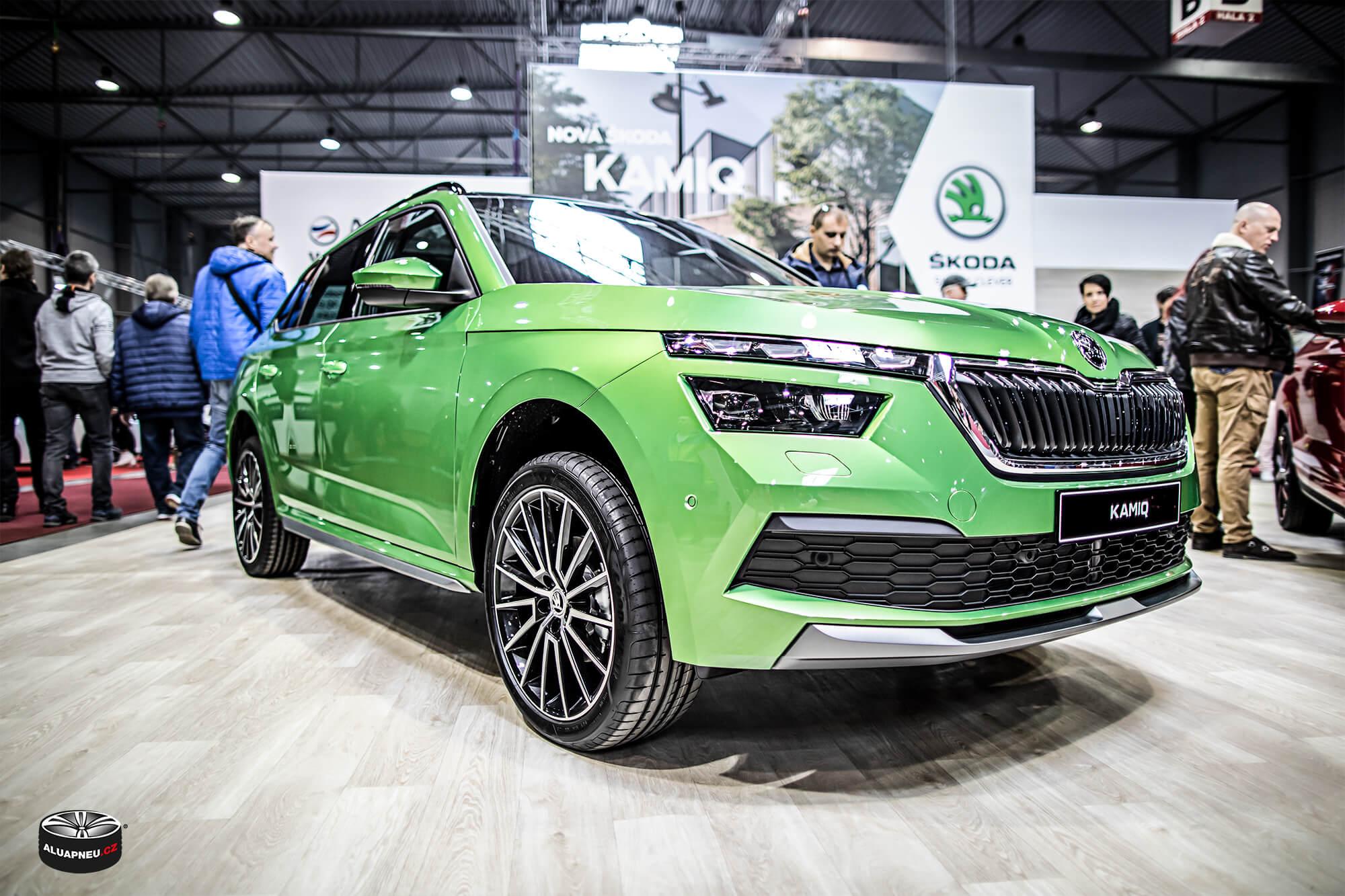 Škoda Kamiq - originální leštěné elektrony Škoda - Autosalon Praha 2019 - www.aluapneu.cz