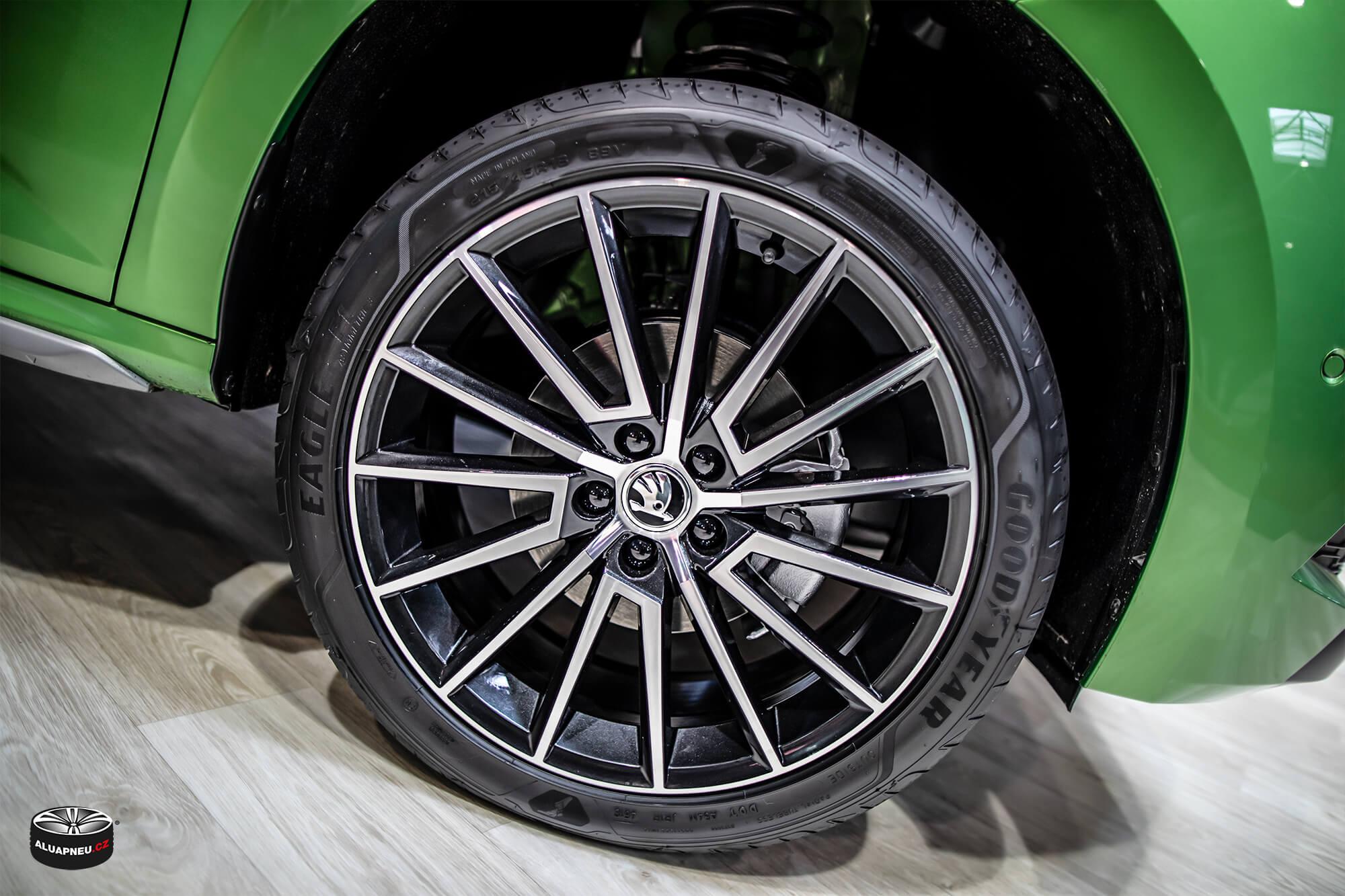 Originální leštěné alu disky Škoda - Autosalon Praha 2019 - www.aluapneu.cz