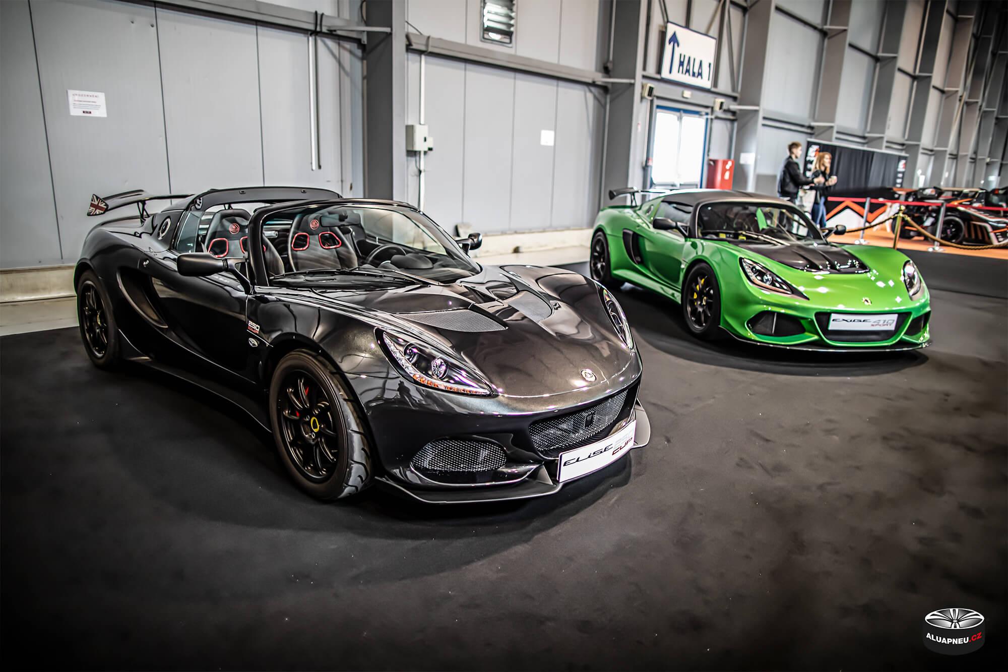 Lotus Elise - Autosalon Praha 2019 - www.aluapneu.cz