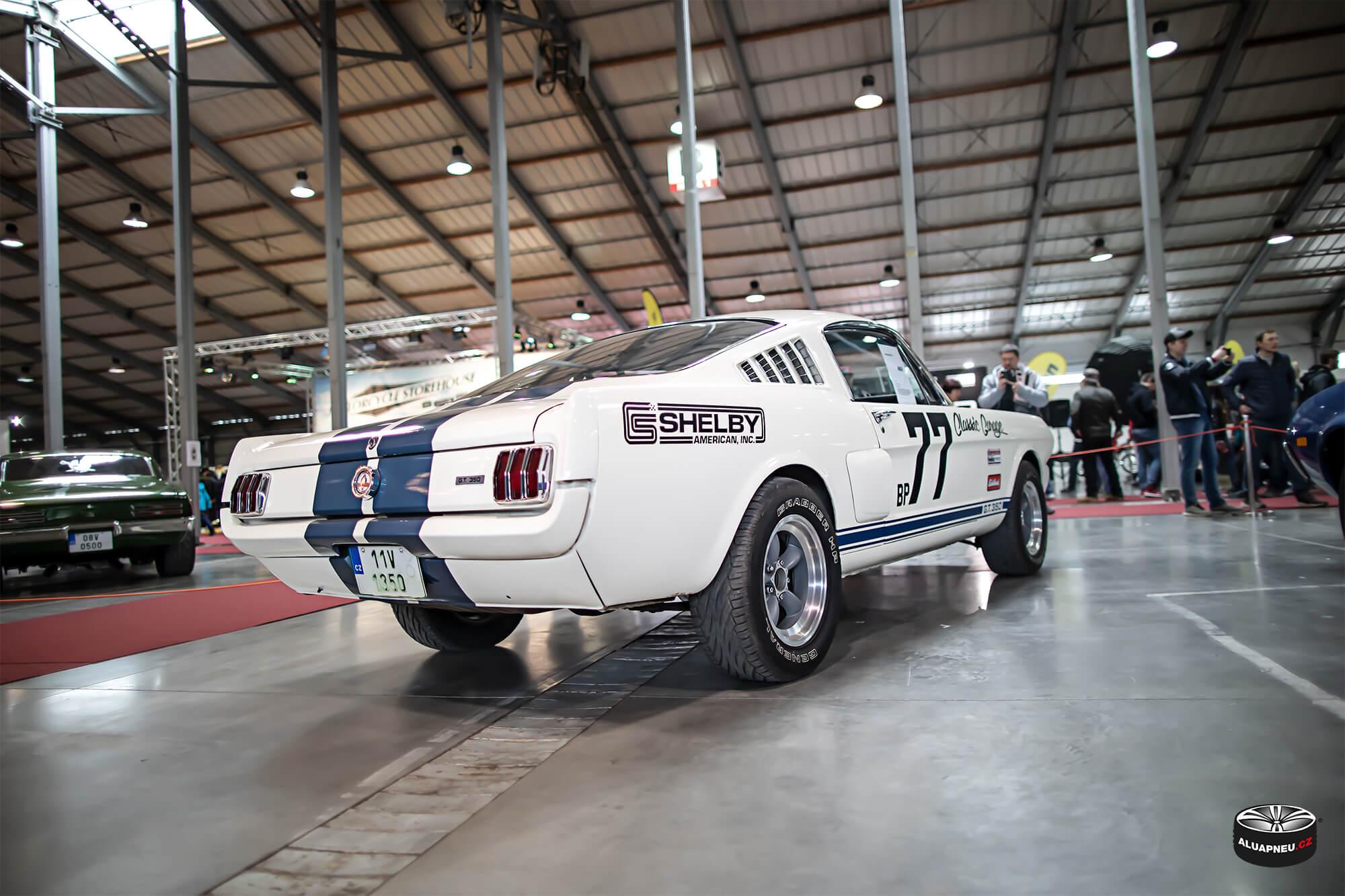 Ford Mustang Shelby - leštěná alu kola - Autosalon Praha 2019 - www.aluapneu.cz
