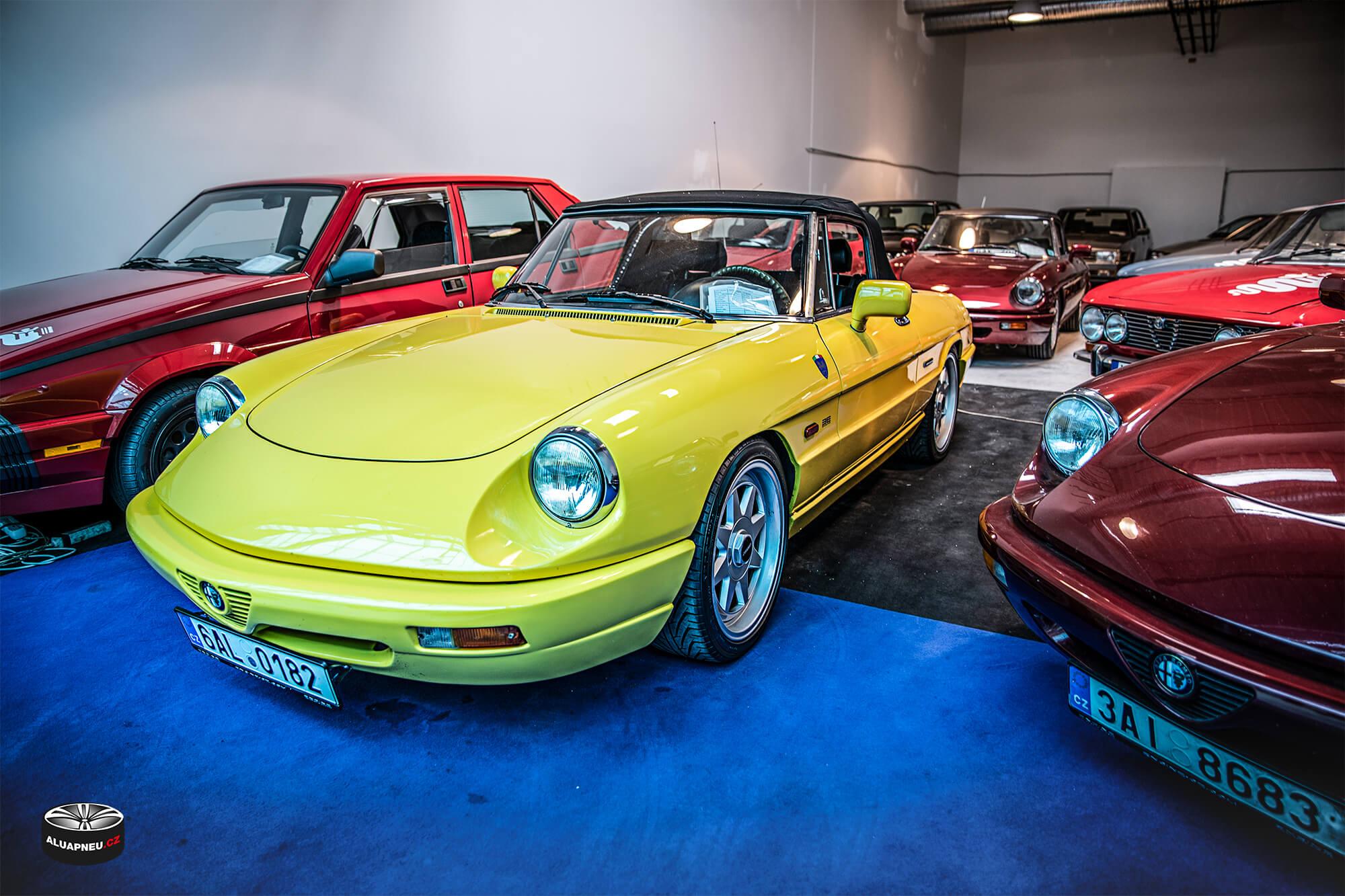 Stříbrná alu kola Alfa Romeo Spider - Youngtimer - www.aluapneu.cz
