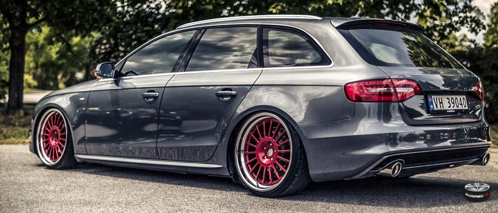 Červená Alu kola Audi A4