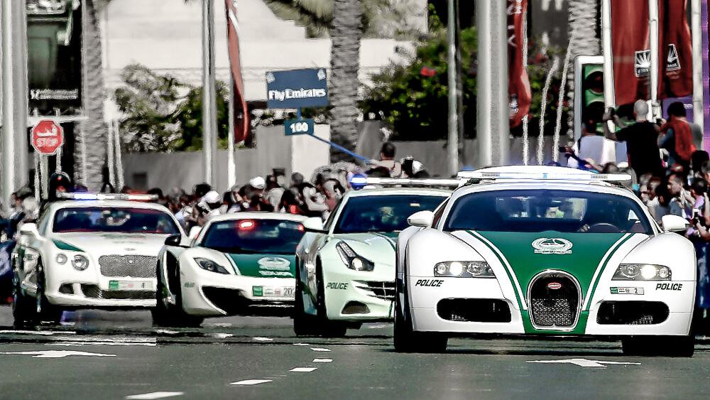 Policejní vozy Dubai