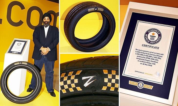 Nejdražší pneumatiky světě