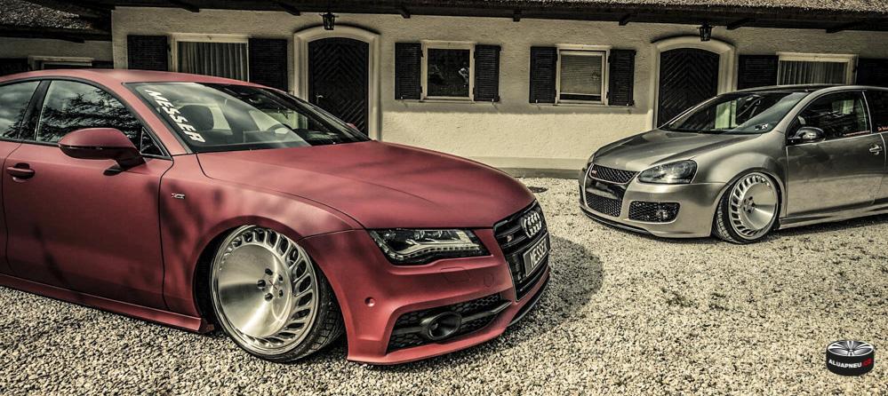 Alu kola Audi A7 a Volkswagen Golf