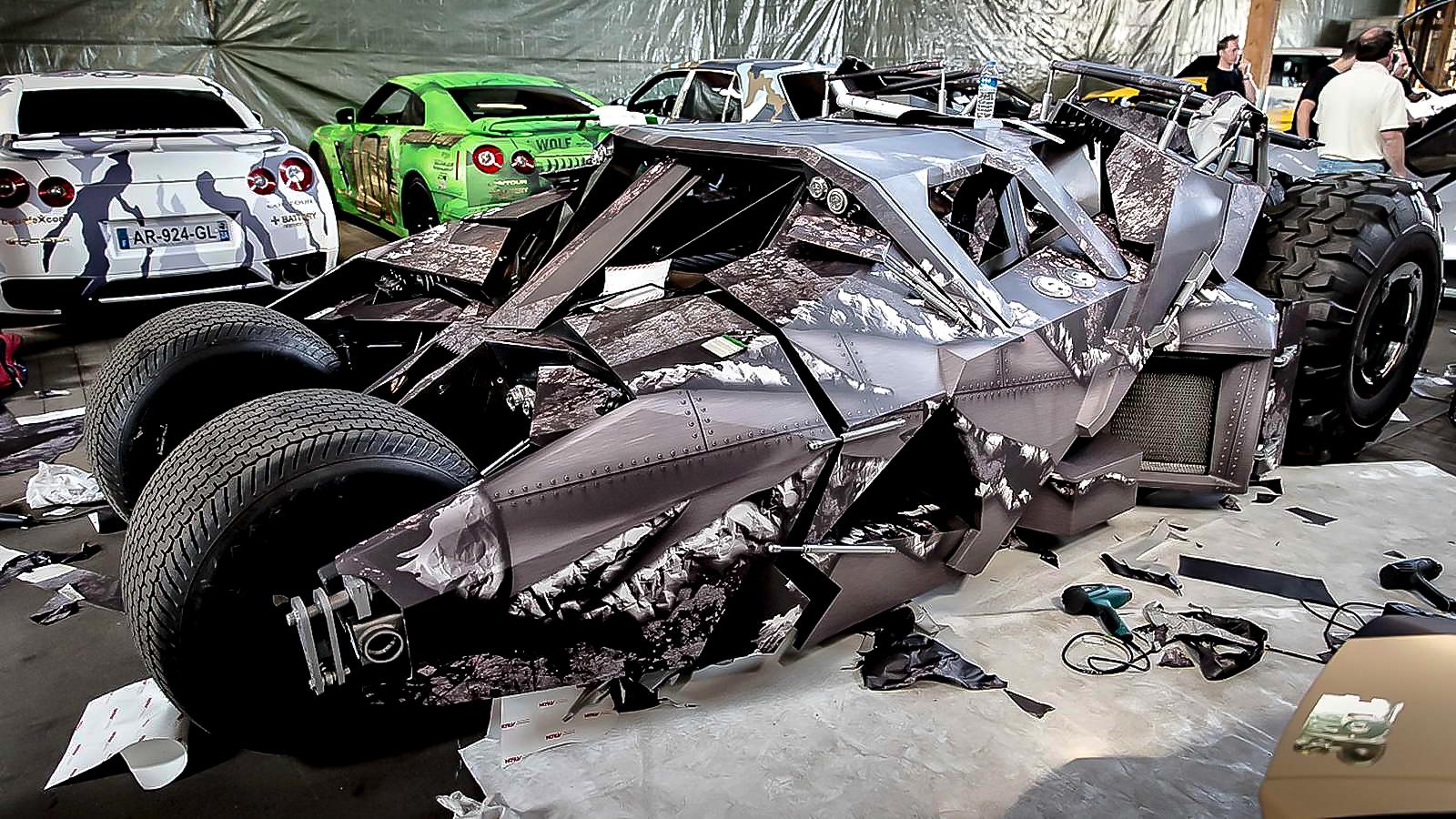 Batmobil Gumball 3000 wrap