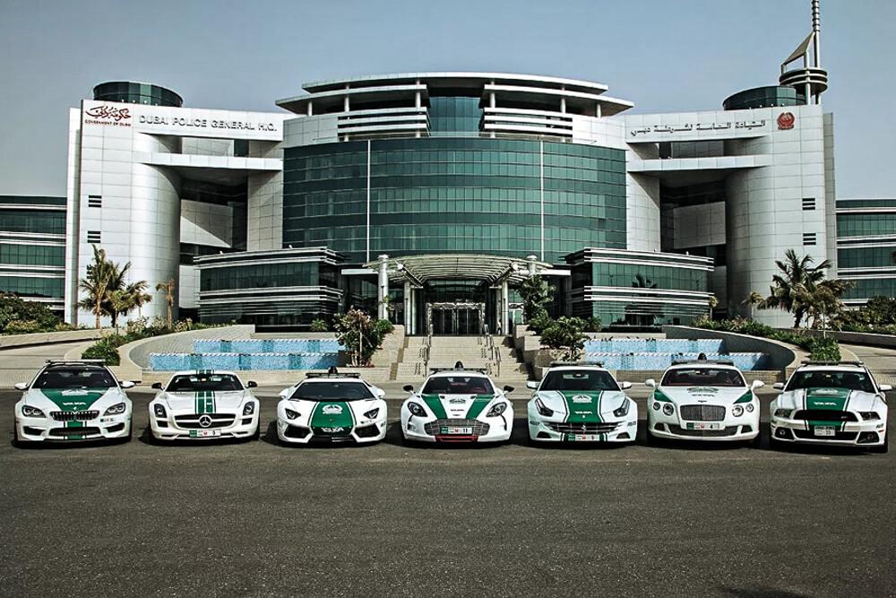 super sportovní automobily Dubajské policie