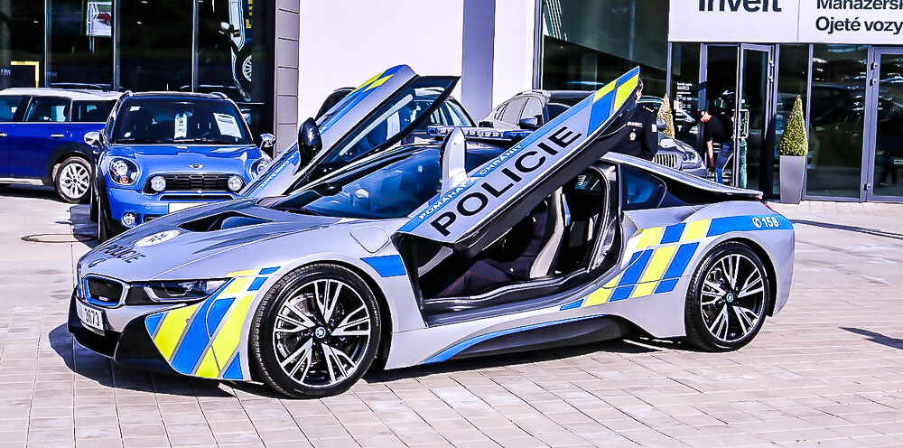 Česká policie Bmw I8