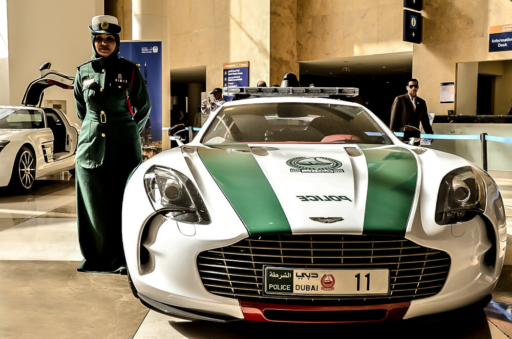 Aston Martin Dubajská policie
