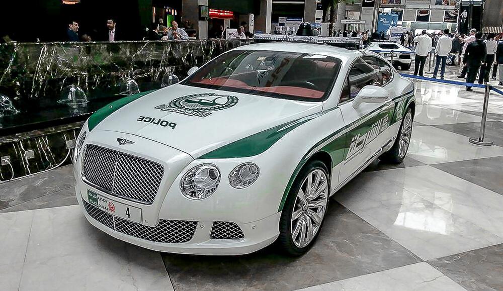 Policejní Bentley Continental Gt - Dubai