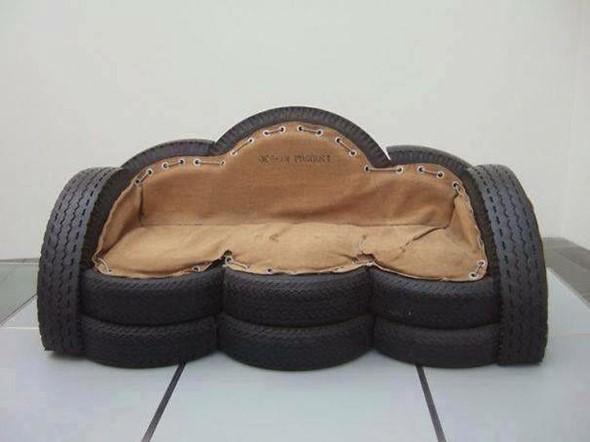 Gauč z pneumatik