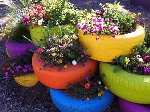 Květináče z pneumatik